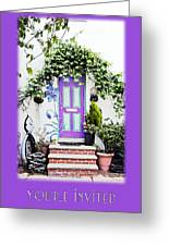 Invitation Greeting Card - Street Garden Greeting Card