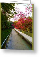 Inviting Garden Alley Greeting Card