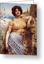 Ionian Dancking Girl Greeting Card