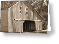 Iowa Hay Barn Greeting Card