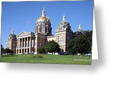 Iowa State Capitol Des Moines Greeting Card