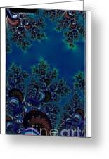 Iphone Case  Midnight Blue Frost Crystals Fractal Greeting Card
