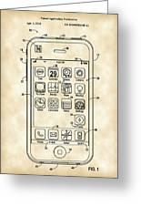 iPhone Patent - Vintage Greeting Card
