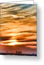 Iphone Sunset Digital Paint Greeting Card