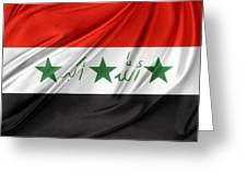 Iraq Flag Greeting Card
