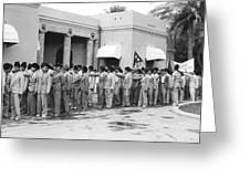 Iraqis Salute King Faisal Greeting Card