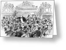 Ireland Election, 1857 Greeting Card