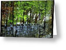 Ireland Stone Wall And Trees Greeting Card