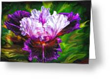 Iridescent Iris Greeting Card