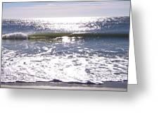 Iridescent Waves Greeting Card