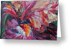 Iris - Bold Impressionist Painting Greeting Card