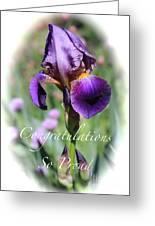Iris Congratulations Card Greeting Card