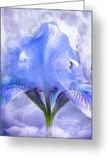 Iris - Goddess In The Moonlite Greeting Card