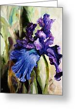 Iris In Bloom 2 Greeting Card