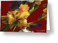 Iris In The Rough Greeting Card