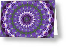 Iris Kaleidoscope  Greeting Card