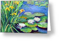 Irises And Lilies Greeting Card