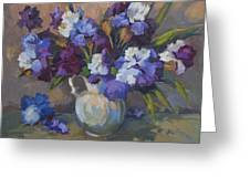 Irises Greeting Card by Diane McClary
