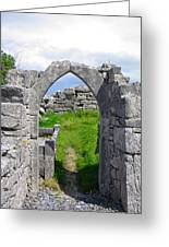 Irish Church Ruins Greeting Card