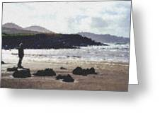 Irish Coast Pastel Chalk Greeting Card