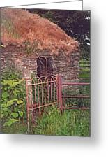 Irish Cottage Of Long Ago Greeting Card