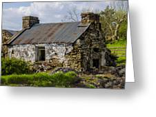 Irish Cottage Ruins Greeting Card
