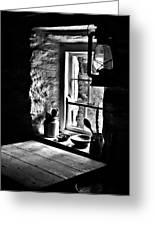 Irish Cottage Window Greeting Card
