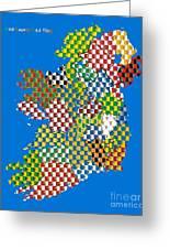 Irish County Gaa Flags Greeting Card