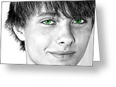 Irish Eyes Greeting Card by Michael Taggart