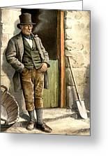 Irish Peasant Farmer Greeting Card