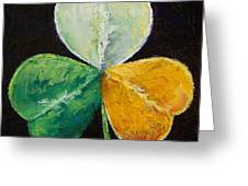 Irish Shamrock Greeting Card by Michael Creese