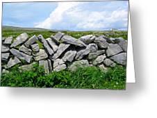 Irish Stone Wall Greeting Card