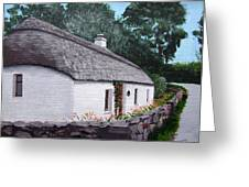 Irish Thatched Cottage Greeting Card