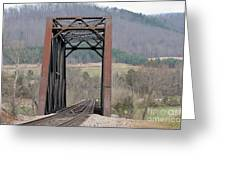 Iron Bridge Greeting Card by Brenda Dorman