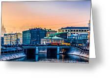 Iron Bridge Panorama Greeting Card