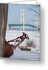 Iron Buoy And Mighty Mac Greeting Card