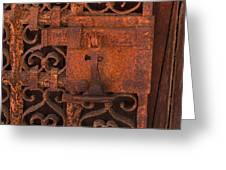 Iron Door Greeting Card