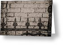Iron Fence - New Orleans Greeting Card