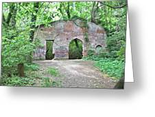Iron Foundry Ruins Greeting Card