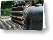 Iron Gears Greeting Card by Ken Serfass