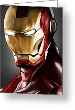 Iron Man Painting Greeting Card