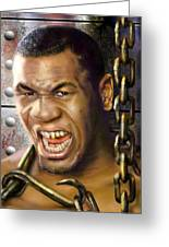 Iron Mike Tyson-no Blood No Glory 1a Greeting Card