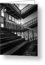 Iron Staircases Greeting Card