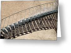 Iron Stairs Shadow Greeting Card