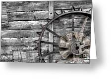 Iron Tractor Wheel Greeting Card