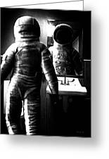 The Astronaut And The Bathroom Greeting Card