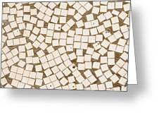 Irregular Mosaic Texture Greeting Card