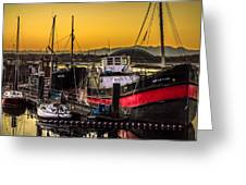 Irvine Harbour At Sunset Greeting Card