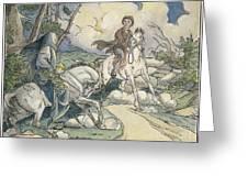Irving: Sleepy Hollow, 1849 Greeting Card