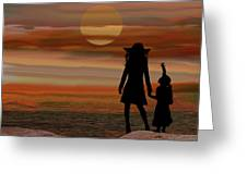 Is Daddy In Heaven Now - Featured In Contours And Silhouettes - Cards For All Occ -nature Wildlife Greeting Card